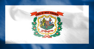 Flag of West Virginia, USA. Stock Photography