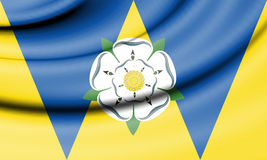 Flag of West Yorkshire, England. 3d Rendered Flag of West Yorkshire, England Royalty Free Stock Photo