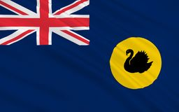 Flag of Western Australia. WA is a state occupying the entire western third of Australia vector illustration
