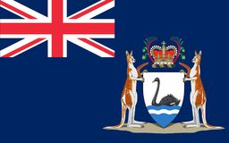 Flag of Western Australia. WA is a state occupying the entire western third of Australia stock illustration