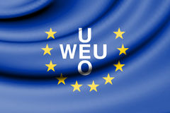 Flag of Western European Union. 3d Rendered Flag of Western European Union royalty free illustration