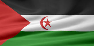 Flag of Western Sahara Stock Photography