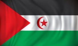 Flag of Western Sahara. Vector illustration Stock Image