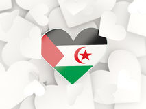 Flag of western sahara, heart shaped stickers Stock Image