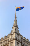 Flag on the Westminster Abbey, London Royalty Free Stock Images
