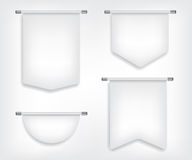 Flag white banner different shapes Stock Photography
