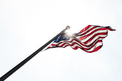 Flag in the white Royalty Free Stock Image