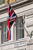 Flag and Whitehall Royalty Free Stock Photography