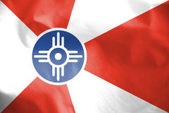 Flag of Wichita, Kansas. USA. 3d Rendered Flag of Wichita, Kansas. USA Royalty Free Stock Photos