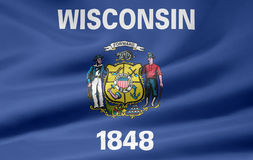 Flag of Wisconsin Royalty Free Stock Photos