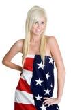 Flag Woman Stock Photo