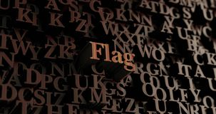 Flag - Wooden 3D rendered letters/message Royalty Free Stock Image