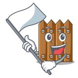 With flag wooden fence pattern for design cartoon royalty free illustration
