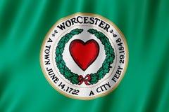 Flag of Worcester city, Massachusetts US. 3d illustration royalty free illustration