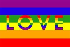 Bandera arcoiris, movimiento LGTBI royalty free illustration