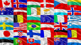 Flag of world countries set Royalty Free Stock Image