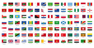 Flag of the World II Royalty Free Stock Image