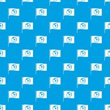 Flag with world planet pattern seamless blue Royalty Free Stock Photos