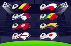 Flag world soccer 2018 Vol4 stock illustration