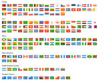 Flag of world Stock Photo