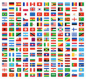 Flag of world. Vector icons Royalty Free Stock Images
