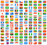 Flag of world Stock Photography