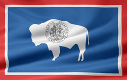 Flag of Wyoming royalty free stock images