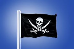 Flag of XXX flying against a blue sky Stock Image