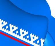 Flag of Yamalo-Nenets Autonomous Okrug, Russia. Close Up Stock Images