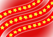 Flag, yellow star with red background Royalty Free Stock Photo
