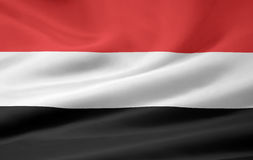 Flag of Yemen Royalty Free Stock Photo
