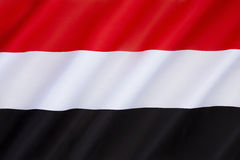 Flag of Yemen. Adopted on 22nd May 1990, the day that North Yemen and South Yemen were unified. The flag is essentially the Arab Liberation Flag of 1952 Stock Photography