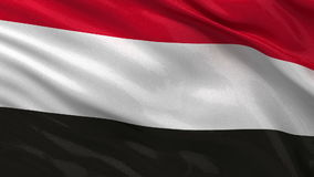 Flag of Yemen seamless loop Stock Image