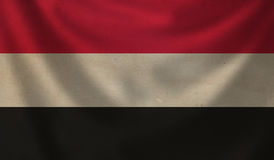 Flag of Yemen. Royalty Free Stock Photos