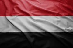 Flag of Yemen Stock Photography