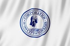 Flag of Yonkers city, New York US stock illustration