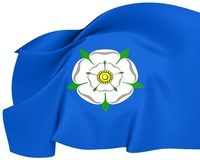 Flag of Yorkshire. Close Up Stock Image