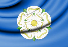 Flag of Yorkshire, England. 3d Rendered Flag of Yorkshire, England Stock Photos