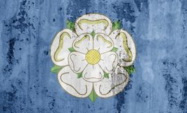 Flag of Yorkshire. England, UK, on a concrete textured background Stock Image