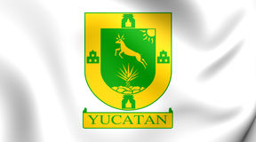 Flag of the Yucatan State, Mexico. Stock Images