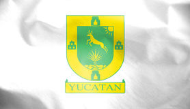 Flag of Yucatan State, Mexico. Stock Image
