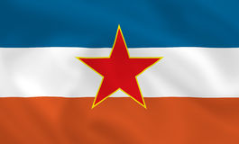 Flag of Yugoslavia Stock Photography