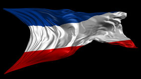 Flag of Yugoslavia stock footage