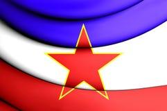 Flag of Yugoslavia Stock Photography