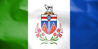 Flag of Yukon, Canada. 3d Rendered Flag of Yukon, Canada Royalty Free Stock Images