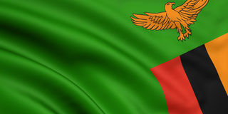 Flag Of Zambia Stock Image