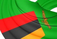 flag zambiaen vektor illustrationer