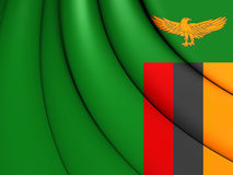 flag zambiaen royaltyfri illustrationer