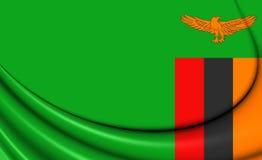 flag zambiaen stock illustrationer