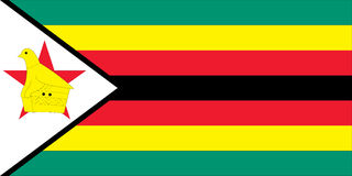 Flag of zimbabwe Royalty Free Stock Photos